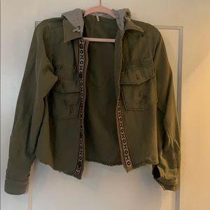 Free People Weekend Wanderer Military Jacket Sz XS